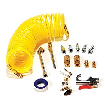Primefit IK1016S-20 Air Accessory Kit with 25-Foot Recoil Air Hose, 20-Pieces by Primefit