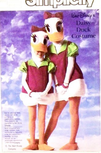 Daisy Duck Costumes Pattern (OOP Simplicity Pattern 7734. Adult Sz M, (Bust: 36-38
