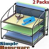 2 Pack - SimpleHouseware Desk Organizer 3 Tray
