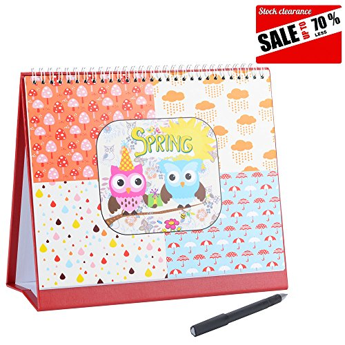 2017 Daily School Planner Owl Desk Calendar,10 Inches