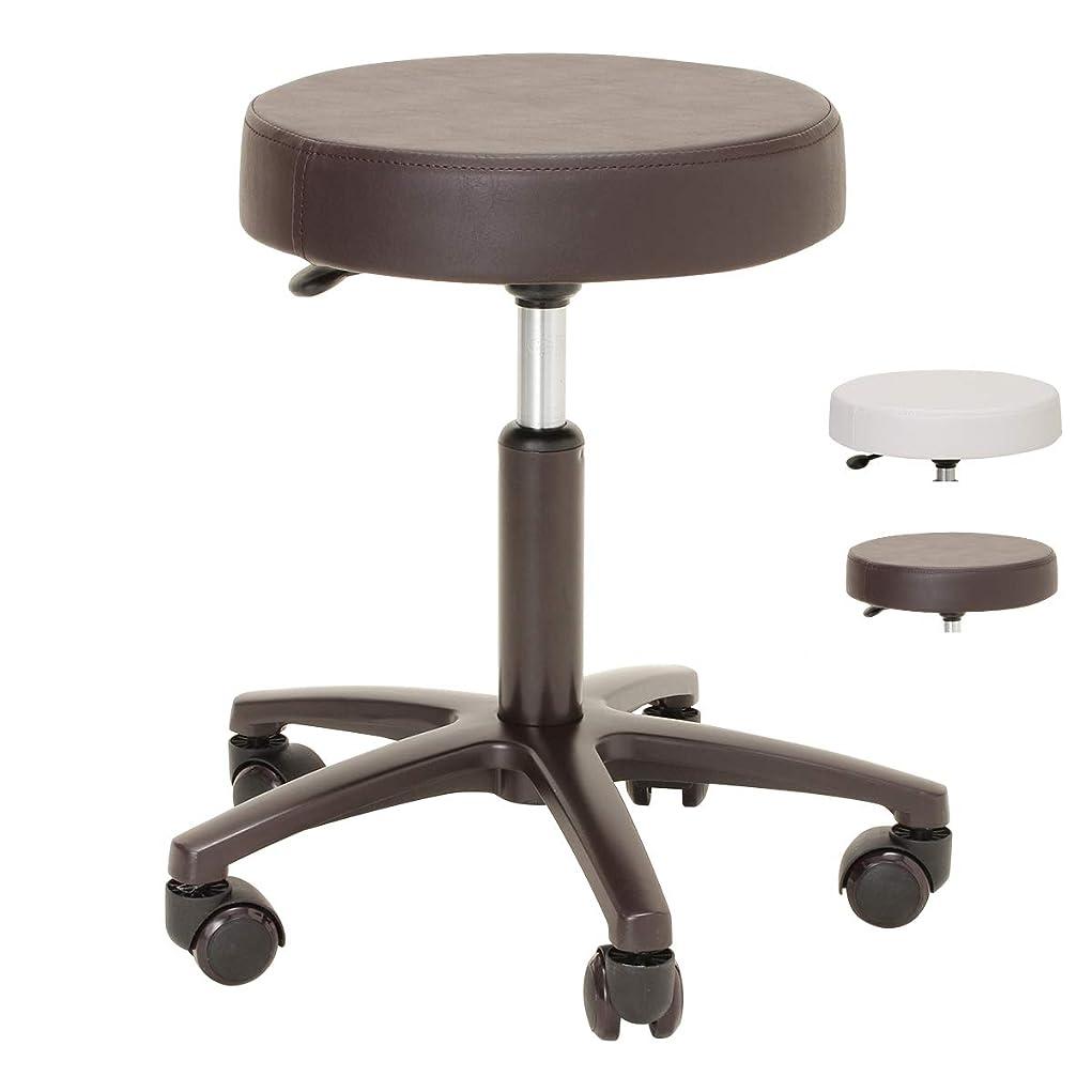 頑丈ビーチリングナカバヤシ 丸椅子 キャスター付き 診察椅子 抗菌PVCレザー グレーブルー RZR-104GYB