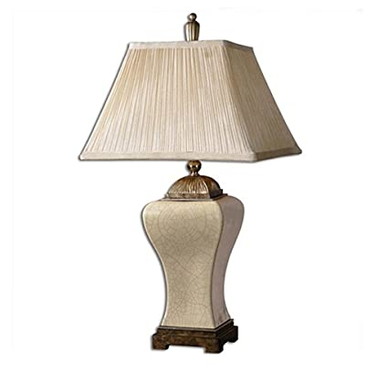 YLT NYQ Large Table Lamp   Living Room Ceramic Table Lamp, Ice Cracked  Vintage