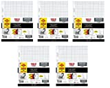 Five Star Reinforced Graph Filler Paper, Graph Ruled, Loose-leaf, 11 x 8.5 Inch Sheet Size, 100 Sheets/Pack (5-Pack)