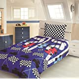 Children's Kids SINGLE BED SIZE RACING CAR DESIGN BOYS DUVET COVER AND PILLOWCASE SET By Viceroybedding