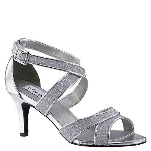Dyeables Glitter Sandal Silver Amber Women's IOHwFq4rI