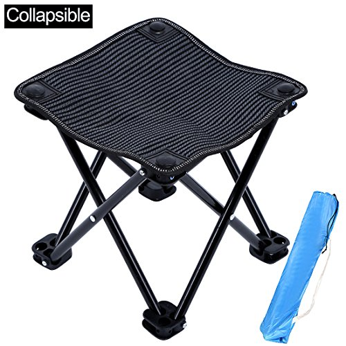 KAIYANG Mini Portable Folding Stool Chair Outdoor Camping Stool for Camping, Hiking, Fishing, Beach, Park with Carry Bag (Folding Mini Beach Chair)