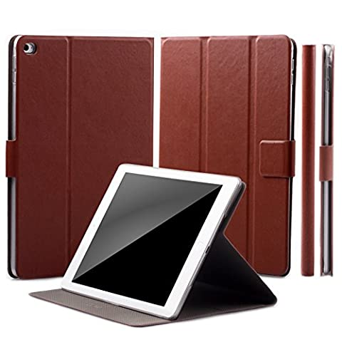 Apple iPad Mini 4 Case | 360° Rotating Stand | Puppy chestnut | iCues Manzano Cover | other Leather - and color variations available | Smart Wallet Flip Thin Ultra Slim