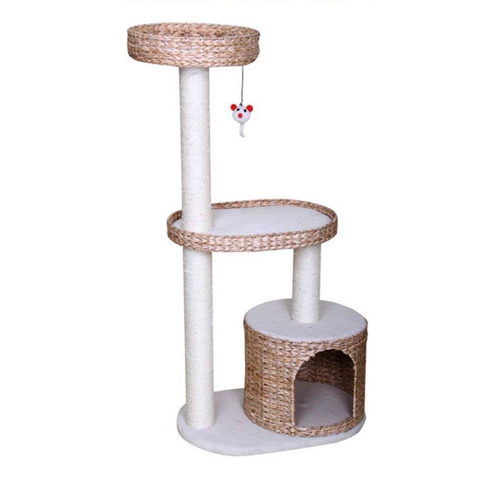 Cat Tree Apartment Furniture Pucao Cat Tree Cat Activity Tower Multi-Platform Catch Cat Column Tree Steady and Secure Environment Friendly Play Scratch Pet Toy