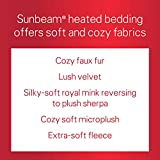 Sunbeam Quilted Fleece Heated Blanket with