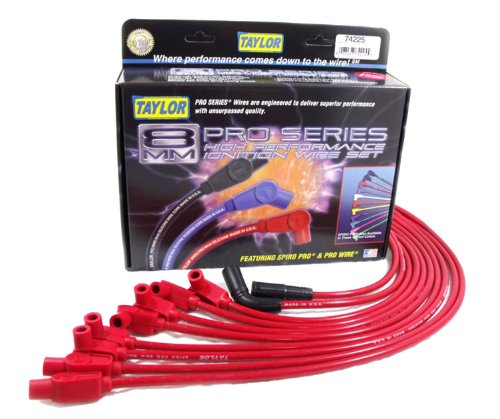 Taylor Cable 74225 Spiro-Pro Red Spark Plug Wire (Plug Wires Corvette)