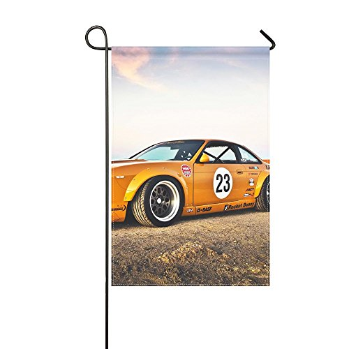 Fenda Garden Flag nissan 240sx rocket bunny side view 12x18 inches(Without Flagpole) -