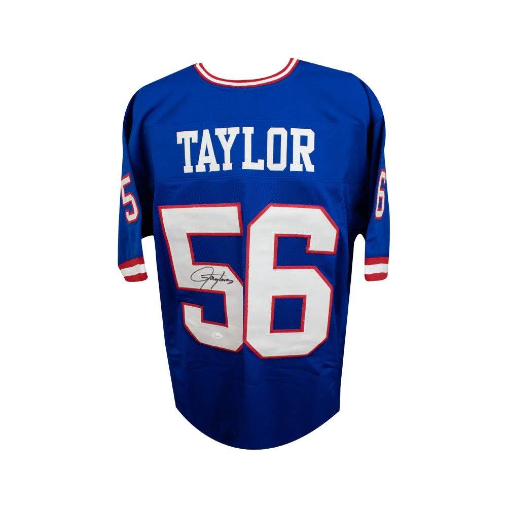 cab433dfda3 Lawrence Taylor Autographed New York Giants Custom Blue Football Jersey JSA  COA SCC
