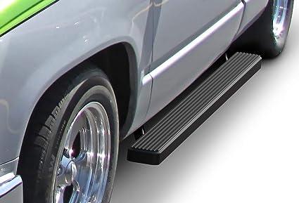 Running Board Side Step 4in Black Fit Chevy//GMC C//K Pickup Regular Cab 88-98