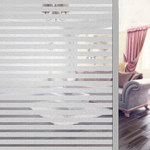 Enjoygous Privacy Window Film, 3D Frosted No Glue Decorative Static Cling Glass Film Self Adhesive Stickers For Home Bathroom Office Meeting Room Living Room - Heat Control Anti UV