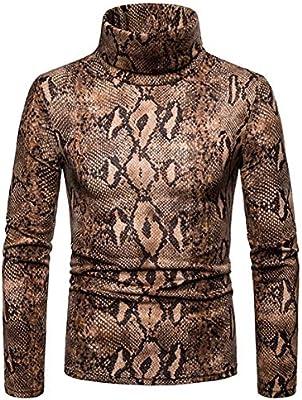 XingYue Direct - Camiseta de manga larga para hombre, diseño de serpiente, algodón, ropa interior informal, marrón oscuro, Small: Amazon.es: Hogar