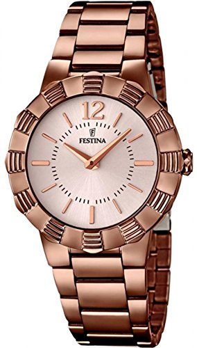 Festina F16800/1 - Women's Watch, Stainless Steel placcato, color:Brown