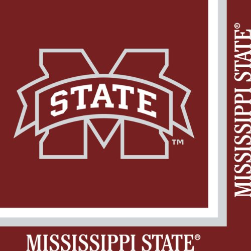 Creative Converting 20 Count Mississippi State Bulldogs Lunch - State Mississippi Square Logo