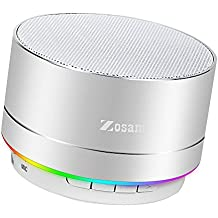 Zosam Portable Wireless Bluetooth Speaker Superb HD Sound &Enhanced Bass MINI Stereo Outdoor Speaker with Built-in Mic and SD/TF Card Slot for iPhone iPad PC Cellphone(Silver)