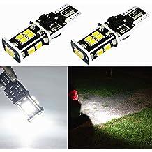 Alla Lighting Super Bright T15 912 921 LED Bulbs Back Up Light 6000K Xenon White High Power LED 921 Bulbs 3020 SMD LED W16W 921 Back-Up Reverse Light Lamp (Set of 2) (6000K White)