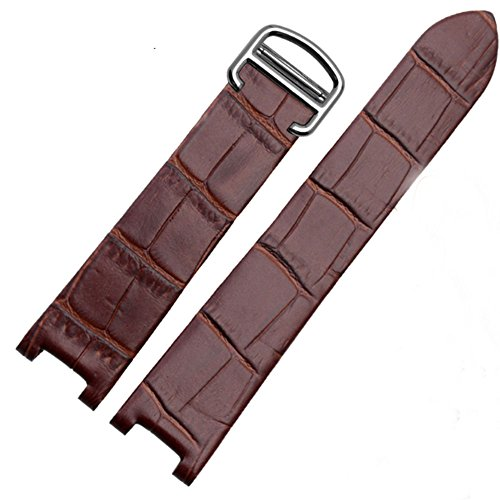 Cartier Brown Strap - 20 mm for Pasha De Cartier Leather Watch Band Strap Bracelet Belt (Brown)