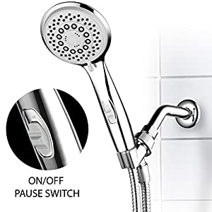 HotelSpa High-Power Spiral 7-Setting Ultra-Luxury Handheld Shower-Head with Patented ON/OFF Pause Switch by Top Brand Manufacturer