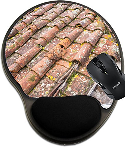 Tuscan Roof Tile (MSD Mousepad wrist protected Mouse Pads/Mat with wrist support design 24755031 Tuscan clay roof tiles)
