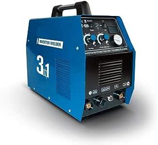 Welder- Plasma Cutter CT520D 50AMP 220V IGBT Multi-Function Inverter Welder Machine 3IN1 Wig TIG MMA Cut Welding Machine, Ideal for Welding Outdoors (Color : CT-520D, Size : 220V)
