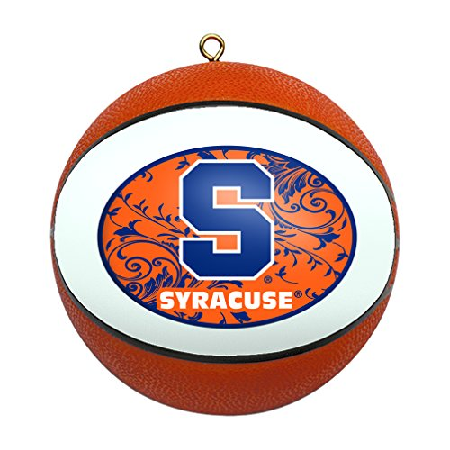 Ncaa Ornaments (NCAA Syracuse Orange Replica Basketball Ornament)