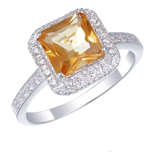 Sterling Silver Citrine Ring (1 CT) In Size 7