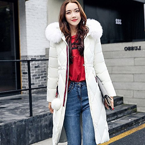 Hooded Winter Size down Women Jacket Large Section S Jacket Thick down Long in Cotton HF 'S White Women' the WxIT66