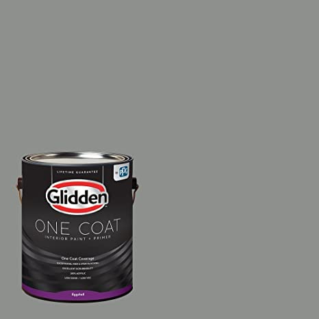 Glidden Interior Paint + Primer: Gray/Phoenix Fossil, One Coat, Eggshell,