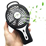 Mini Handheld Fan FlatLED Portable Water Misting Fan Personal Misting Fan With Cooling Humidifier, USB Rechargeable Battery, Battery Operated & Water Spray Fan for Home Office and Travel (Black)