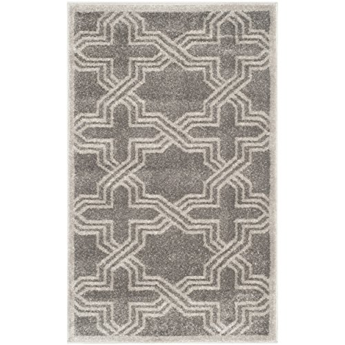 Safavieh Amherst Collection AMT413C Grey and Light Grey Indoor/ Outdoor Area Rug (2'6