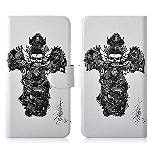 Generic Sketch Black Skull PU Leather Flip Case Cover For Lenovo K3 K30-T