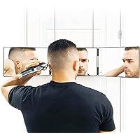 QKFON Telescopische Hangende Trifold Make-up Spiegel 3 Vouwspiegel Hoogte Verstelbare Kapsel Kappers Spiegel Thuis…