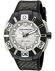 Technomarine Mens TM-514001 Black Reef Analog Display Swiss Quartz Black Watch