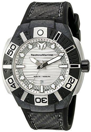 (Technomarine Men's TM-514001 Black Reef Analog Display Swiss Quartz Black Watch)