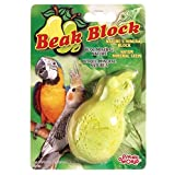 Living World Mineral Block, Pear for Cockatiels, 75 Grams