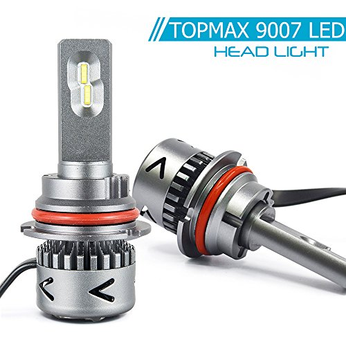 9007 LED Headlight Bulbs Lo/Hi Beam Conversion Kit- Cool White 6000K 9600LM 80W CSP LED Chips - 2 Y -