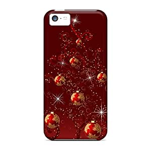 OrangeColor Case Cover Protector Specially Made For Iphone 5c Christmas Ornaments Sparkling Christmas Tree