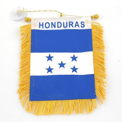 """Mini Banner """"Honduras"""" Auto Mirror 4""""x6"""" Flag"""