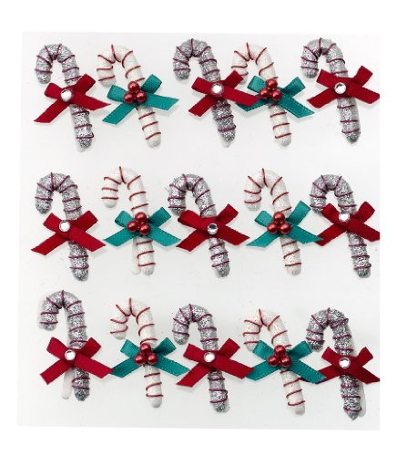 Jolee's Boutique Dimensional Stickers, Candy Cane Mini Repeats
