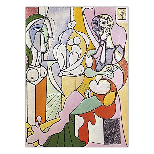 Print Canvas Art Wall Pictures Poster Canvas Printings Paintings Spanish Pablo Picasso Abstract Figure,40x50cm NO Frame,K07638