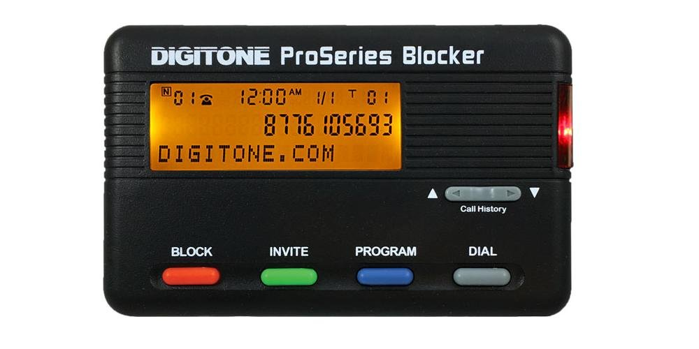 Digitone ProSeries Call Blocker - Millions of Pre-Loaded Blocked Numbers, Back-Lit Display, Block Names or 1,000 Numbers, Last Call Remote Entry by Digitone
