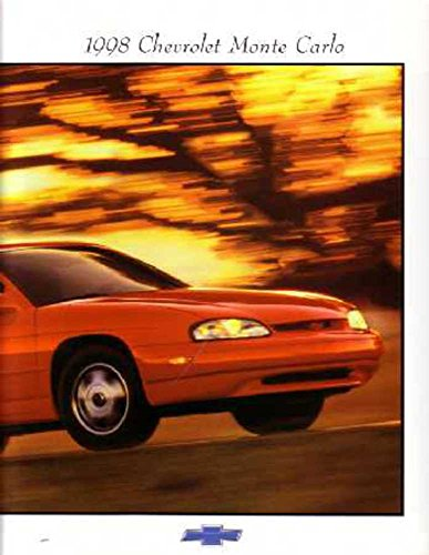 1998 Chevrolet Monte Carlo Sales Brochure Literature Book Options Specification