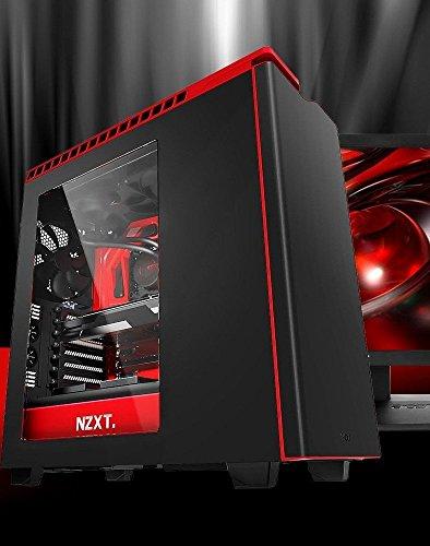 CPU Solutions Intel Core i7 6700K 4.0Ghz Quad Core PC. 32GB DDR4 RAM, 2TB HDD & 240GB SSD, Windows 10, GTX1080 w/8GB, 850W PS, NZXT H440 Matte Black with Glossy Red Trim.
