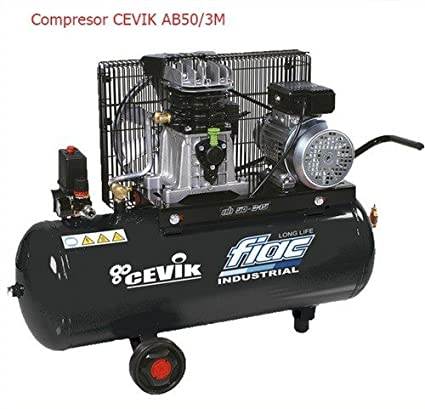 Compresor correas ab-50/3m (3hp-50 lts) CEVIK