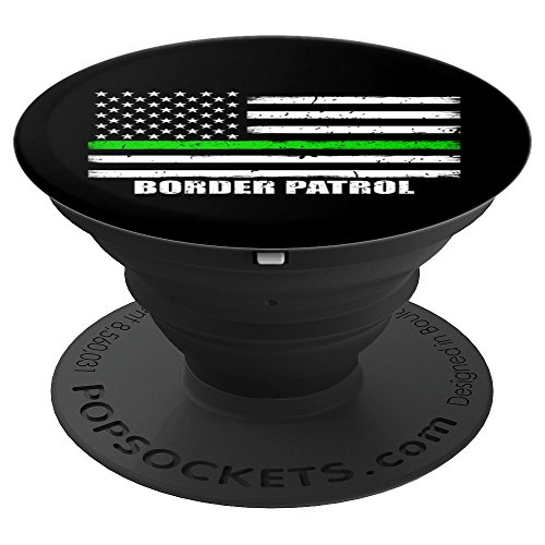 (Border Patrol Thin Green Line American Flag - PopSockets Grip and Stand for Phones and Tablets)