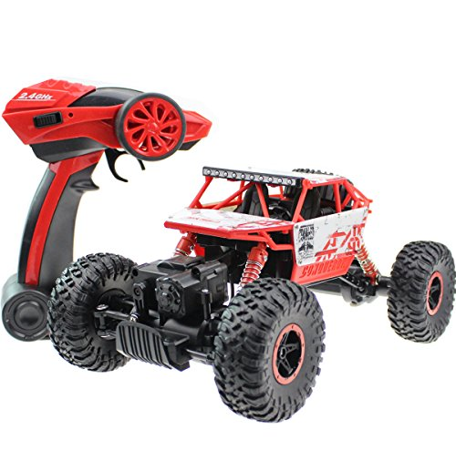 Boys Dune Buggy (2.4G Rock Crawler RC Car 1:18 Off Road Vehicle 4 Wheel Drive High Speed Dune Buggy Remote Control Monster Truck With Chargeable Battery)