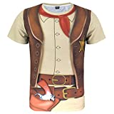Funny World Men's Western Cowboy Halloween T-Shirts (XXL)